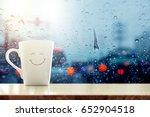 happy coffee mug with smiley... | Shutterstock . vector #652904518