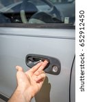 A Makeshift Car Door Handle Fi...