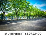 electric vehicle parking | Shutterstock . vector #652913470