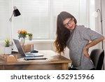 young attractive businesswoman...   Shutterstock . vector #652915966