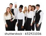portrait of confident... | Shutterstock . vector #652921036