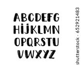 modern hand written uppercase... | Shutterstock .eps vector #652921483