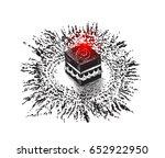 holy kaaba in mecca saudi... | Shutterstock .eps vector #652922950