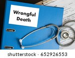 wrongful death doctor talk and  ... | Shutterstock . vector #652926553