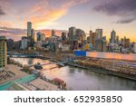melbourne city skyline at... | Shutterstock . vector #652935850