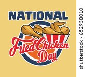 national fried chicken day... | Shutterstock .eps vector #652938010