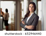 beautiful attractive lawyer... | Shutterstock . vector #652946440