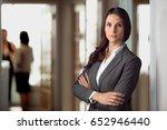 beautiful attractive lawyer... | Shutterstock . vector #652946440
