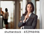 Stock photo smart intelligent witty cunning resourceful law attorney defense lawyer for justice at the office 652946446