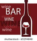 wine and glass vector design... | Shutterstock .eps vector #65294848
