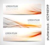 abstract header orange wave... | Shutterstock .eps vector #652948549