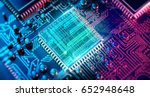 circuit board. electronic... | Shutterstock . vector #652948648