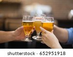Closeup Of Three Glasses Of...