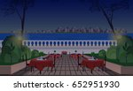 evening city street cafe | Shutterstock .eps vector #652951930