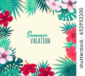 palm leaves  monstera and...   Shutterstock .eps vector #652952200