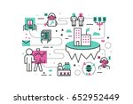 business career line icons... | Shutterstock .eps vector #652952449