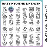 baby hygiene and health concept ... | Shutterstock .eps vector #652952794