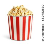 popcorn in cardboard box... | Shutterstock . vector #652953580