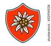 edelweiss shield flower symbol... | Shutterstock .eps vector #652954528