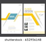 abstract vector modern flyers... | Shutterstock .eps vector #652956148