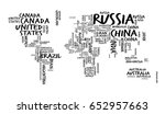 world map with countries name... | Shutterstock .eps vector #652957663