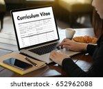 cv   curriculum vitae  job... | Shutterstock . vector #652962088