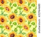 Seamless Pattern  Flowers Of...