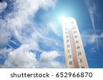 thermometer on the summer heat    Shutterstock . vector #652966870