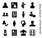 profile icons set. set of 16... | Shutterstock .eps vector #652967548