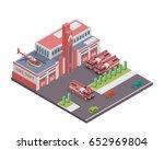 modern isometric fire... | Shutterstock .eps vector #652969804