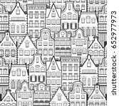seamless pattern of holland old ... | Shutterstock .eps vector #652977973