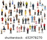 collection of people flat... | Shutterstock . vector #652978270