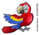a parrot bird safari animals... | Shutterstock . vector #652980598