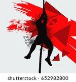 athlete doing gymnastic... | Shutterstock .eps vector #652982800