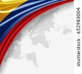 Colombia Flag Of Silk With...