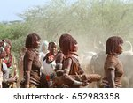 the tribe of hamar in the omo... | Shutterstock . vector #652983358