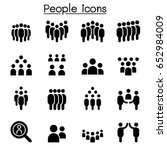 people icon set vector...   Shutterstock .eps vector #652984009