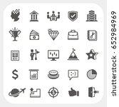 business icons set | Shutterstock .eps vector #652984969