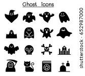 scary ghosts  halloween... | Shutterstock .eps vector #652987000