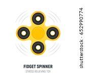 hand spinner. fidget spinner in ... | Shutterstock .eps vector #652990774