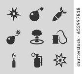explode icons set set of 9