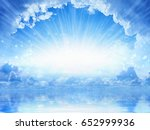 peaceful heavenly background  ... | Shutterstock . vector #652999936