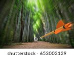 high speed arrow flying through ... | Shutterstock . vector #653002129