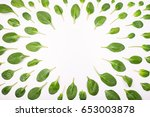 Frame Made Of Spinach Leaves O...