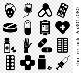 treatment icons set. set of 16... | Shutterstock .eps vector #653015080
