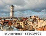 cityscape of lviv  ukraine  ... | Shutterstock . vector #653019973