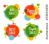 set of sale labels | Shutterstock .eps vector #653031850