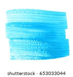 blue watercolor dry brush paint ... | Shutterstock .eps vector #653033044
