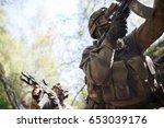group of intelligence on war | Shutterstock . vector #653039176