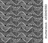 seamless vector pattern. black... | Shutterstock .eps vector #653040583